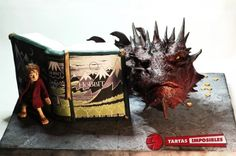 """Smaug Bursts From The Pages Of """"The Hobbit"""" In This Amazing Cake"""
