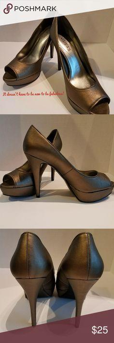 Guess Shoes Bronzy brown platform heels Guess Shoes Heels