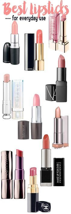 Makeup Bag Musts: The best lipsticks to add to your collection for everyday use. #lipstick #lipstickcolors #lipsticktutorials #lipstickbest