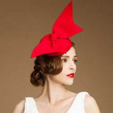 Vintage Lady Women black Wool Felt Pillbox Fascinator Party Wedding Hat with Bow Veil red /camel/black(China (Mainland))