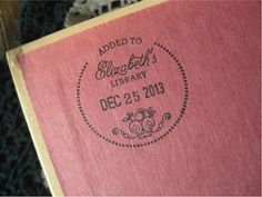 Custom Dated Book Stamp Ex Libris Stamp by TailorMadeStamps, $36.00