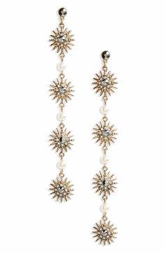 80483e01875f Main Image - Topshop Crystal Star Drop Earrings