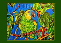 Parrot in Fig - LuvFurArt.com 2014