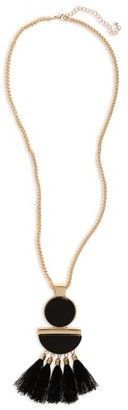 Shop Now - >  https://api.shopstyle.com/action/apiVisitRetailer?id=669017975&pid=uid6996-25233114-59 Women's Cara Tassel Pendant Necklace  ...
