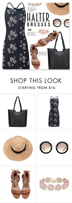 """""""Shoulder Show: Halter Dresses 2"""" by paculi ❤ liked on Polyvore featuring Brixton, Miu Miu, BaubleBar, Accessorize and halterdresses"""