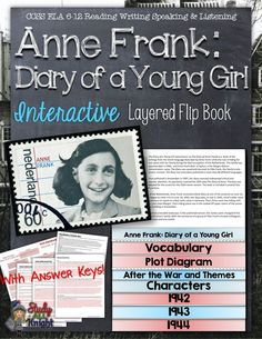 Image of: Cah Anne Frank Diary Of Young Girl Novel Study Literature Guide Flip Book Pinterest 12 Best Anne Frank Activities Images Anne Frank Teaching Ideas