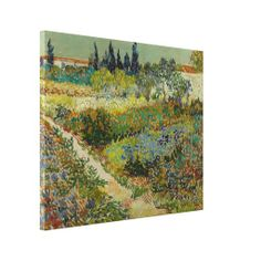 Garden at Arles by Vincent Van Gogh Wrapped Gloss #Canvas #Print, #VanGogh #wrappedcanvas  www.zazzle.com/justvangogh/canvas+prints?rf=238581041916875857&tc=pin&ps=120