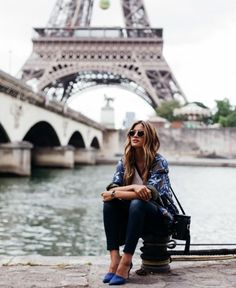 Rachel Barnes does head-to-toe blue in Paris