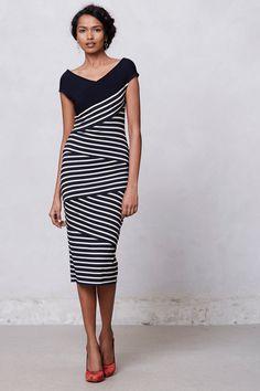 Frenchstripe Column Dress / Anthropologie.com