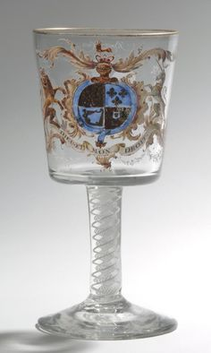 Philadelphia Museum of Art - Collections Object : Goblet Glass Engraving, Glass Museum, Philadelphia Museum Of Art, Mason Jar Wine Glass, Falcons, 18th Century, Art Decor, Drinking, Bucket