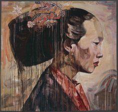 Profile II  Hung Liu Jacquard Woven Tapestry