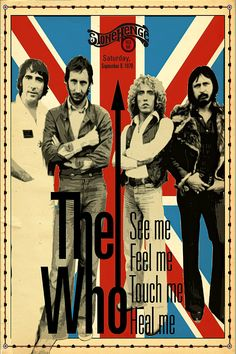 Pop Rock, Rock And Roll, The Who Band, Rock Vintage, Vintage Signs, Rock Festival, Beste Songs, Rock Band Posters, Vintage Concert Posters
