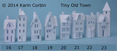 Glitter Houses -Karin Corbin teaches us how to DIY our own tiny town