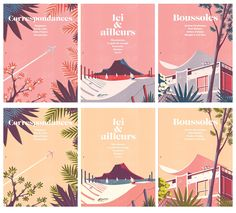 The Paris-based illustrator has created four wonderful illustrations for the latest issue of the Air France's in-flight magazine.