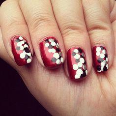 Red/Black/Grey/White Polka Dots