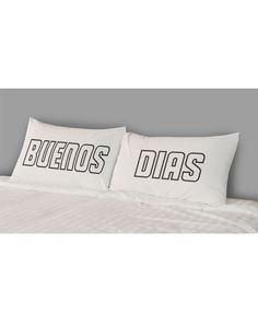 Buenos Dias Pillow Case Set by the rise and fall