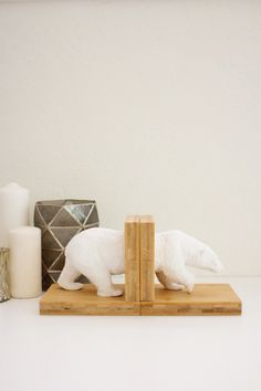 DIY faux ceramic bookends