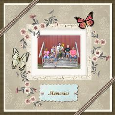 User created memory with MyScrapNook