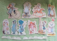Vintage Holly Hobbie Magic Transfer Set Rub N Play Paper Doll Figures Colorforms | eBay
