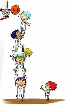 Akashi: None of you are allowed to leave until Tetsuya dunks a ball. Everyone but Kuroko: WHAAT! Akashi: *snip* *snip* Kuroko no Basuke Aomine Kuroko, Midorima Shintarou, Kise Ryouta, Akashi Seijuro, Kuroko No Basket, Fanarts Anime, Anime Characters, Basketball Anime, Basketball Practice