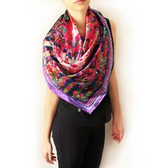 Shop Curated Luxury Designer Fashion and Beauty Gorgeous Fabrics, Layered Tops, Paris, Silk Satin, Plaid Scarf, Black Tops, Women Accessories, Fashion Design, Aud