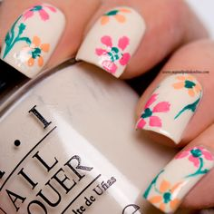Nail Art – Floral manicure   My Nail Polish Online