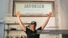 Ben Jacobsen of Jacobsen Salt Co. The first salt harvester since Lewis & Clarke to harvest salt from the Oregon coastline based in Netarts Bay