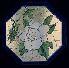 Resultado de imagen de stained glass magnolia pattern