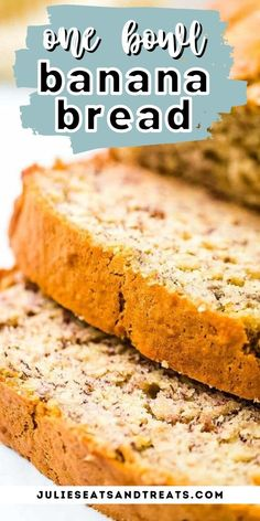 Easy banana bread that's made in one bowl. This is the BEST banana bread. Tender, soft, moist and delicious. Freezes great! #bananabread #recipe Quick And Easy Banana Bread Recipe, Best Banana Bread, Tasty, Yummy Food, Yummy Recipes, Banana Bread Recipes, Muffin Recipes, Chocolate Chip Muffins, Fresh Bread