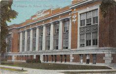 Danville, IL - Washington Public School - Postcard - ca 1910.
