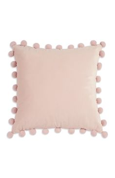 Home Design Living Room Blush Cushions, Bedroom Cushions, Pink Pillows, Cute Pillows, Pink Bedding, Bed Pillows, Primark Bedding, Pom Pom Cushions, Luxury Bedding