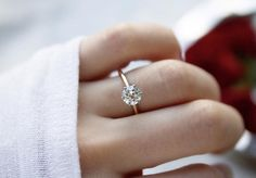 The Vanessa ring is a classic Vintage Engagement Ring circa 1930! This solitaire ring centers a GIA certified old European cut diamond weighing 1.23 carats of J