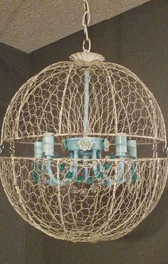 Orb light fixture orb Chandelier crystal chandelier hanging light ...