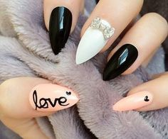 Fearless Stiletto Nail Art Designs, Stiletto nails are oval shaped nails that are more pointed than rounded at the tip, and are usually very long. They have been recently highlighted in . Pointy Nails, Stiletto Nail Art, Gel Nails, Acrylic Nails, Nail Polish, Nail Nail, Nail Glue, Coffin Nails, Fancy Nails