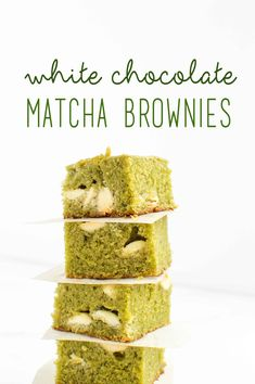 White Chocolate Matcha Brownies - chocolate + connie