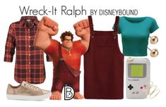 Wreck-It Ralph // maroon overall skirt / teal top / orange plaid button down / beige shoes / techy accesories Disney Cosplay, Disney Costumes, Disney Outfits, Disney Clothes, Disney Dresses, Halloween Costumes, Cute Disney, Disney Style, Disney Pics