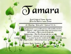 First Name Creations: Tamara Name Meaning..