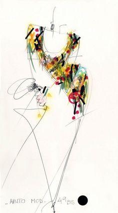 Art Mural Fashion, Fashion Art, Fashion Sketchbook, Fashion Sketches, Fashion Illustrations, Lazy Fashion, Fashion Clipart, Fashion Vocabulary, Gianfranco Ferre