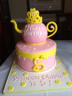 Olivias Princess Tea Party Cake