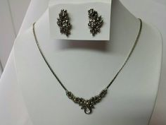 Avon Empire pierced earrings and Necklace set Mint Condition 1988 Romantic Goth #discount #avonjewellery