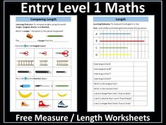 This resource contains two age-appropriate worksheets on measure and length for pupils working at Entry Level 1 in maths. First Grade Worksheets, 1st Grade Math, Grade 1, Time To The Hour, Math Workbook, Powerpoint Lesson, Math Measurement, Certificate Of Achievement, Writing Numbers