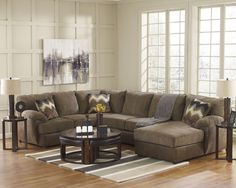 Ashley Furniture Cladio Sectional in Hickory