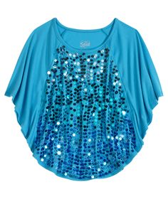 Girls Clothing Short Sleeve Embellished Circle Top