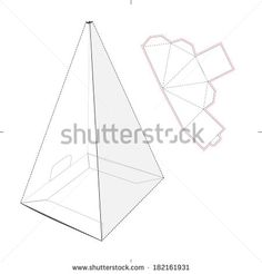 tall triangle box template - Google Search