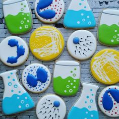 Science Cookies Petri Dish Beaker White Blood Cells Blood Cells Sperm Medicine Laboratory