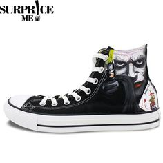 beb38fe52e Canvas Sneakers · High Tops · Converse Chuck Taylor All Star - Hand Painted  Batman And Joker Design Shoes http