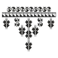 cusaturi oltenesti - Google Search Folk Embroidery, Embroidery Patterns, Loom Patterns, Cross Stitch Patterns, Knitting Charts, Knitting Patterns, Popular Costumes, Romanian Lace, Stitch Design