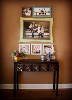 photos au mur familiales sympa et belles