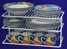 Gain more space in your cabinets by using shelf organizers for dishes {featured on Home Storage Solutions 101}