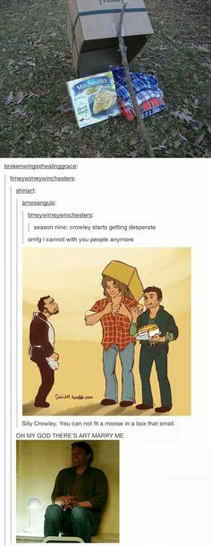 You can't catch a Winchester   But they sure will take the plaid shirts and pie ❤